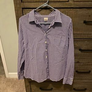 J Crew the Perfect shirt checkered oxford